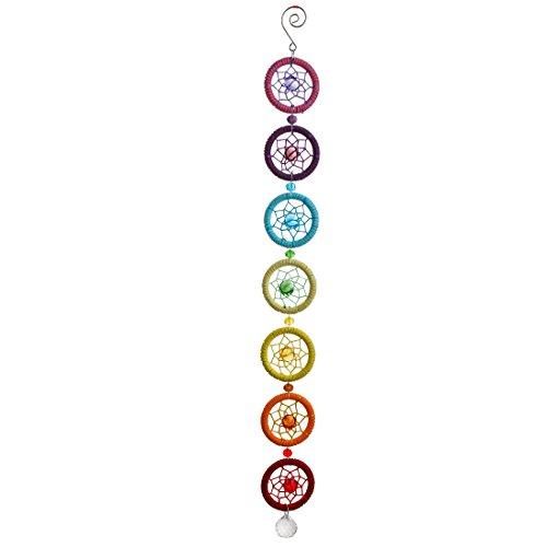 H&D handgefertigt Chakra Octagon Traumfänger mit 20 mm Kugel Prismen Regenbogen Sonnenfänger mit Geschenkbox