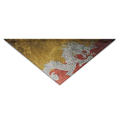 Verkauf Dog Kostüm Cute - nxnx Washable Dragon Texture Bhutan Flag Dog Unique and Never Out of Date Bandanas Scarves Triangle Bibs Scarfs Cute Basic Neckerchief Cat Collars Pet Costume Accessory Kerchief for Large&Medium&Smal