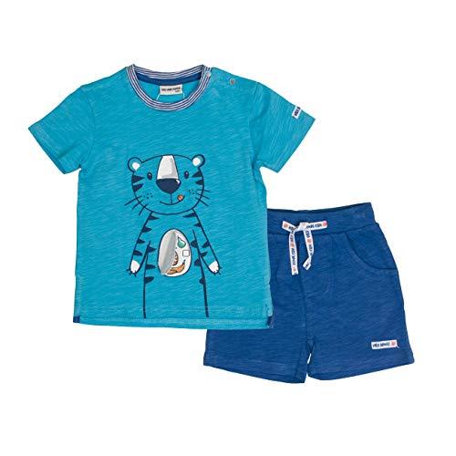 SALT AND PEPPER Baby-Jungen Set Jungle Uni Tiger Bekleidungsset, Blau (Scuba Ink Blue 457-471), 80 -