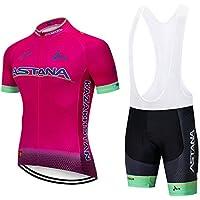 ZHLCYCL Ropa Ciclismo y Pantalones Equipación de Ciclista con 5D Gel Pad para  Verano Deportes al 84eeae3c3ddf8