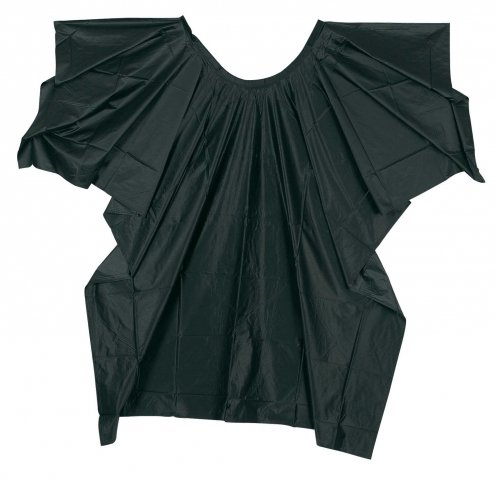Comair Frisierumhang Plastique schwarz aus Weichfolie, mit Klettverschluss, wasserdicht, 1 Stück
