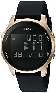 GUESS Men's Stainless Steel Digital Silicone W