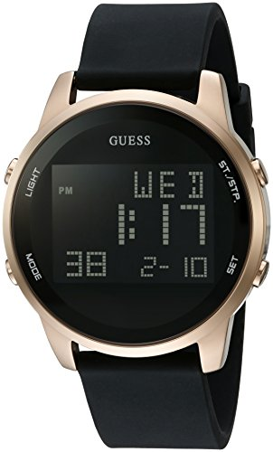 guess-hombres-de-negro-y-tono-dorado-digital-cronografo-reloj