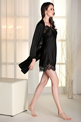 Kenmont Damen Luxus Kimono Nachthemd Nachtwäsche Pyjama Set ...