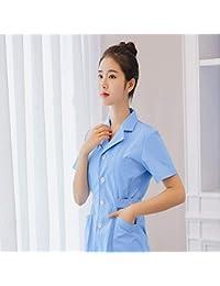 OPPP Ropa médica Ropa médica Camisa Blanca de Manga Corta Bata médica Laboratorio Dental Médico Uniforme