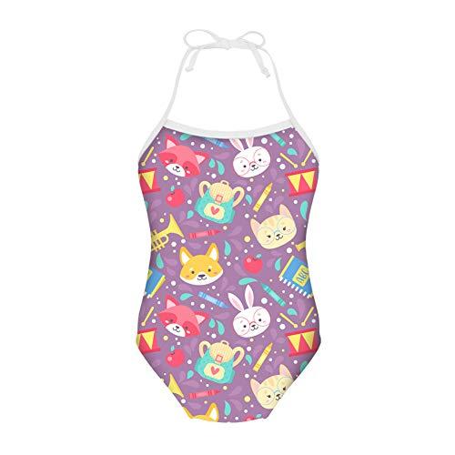 spArt Mädchen Schwimmen Kostüm EIN Stück Mädchen Bademode Urlaub uv50 Halter Kinder Badeanzüge für Mädchen Alter 3-4 Jahre ()