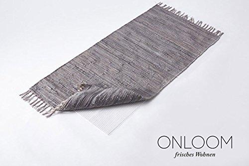 onloom Antirutschmatte, weißer Teppich-Stopp, Rutschhemmende Teppichunterlage in Verschiedenen Größen, Größe:120 x 180 cm