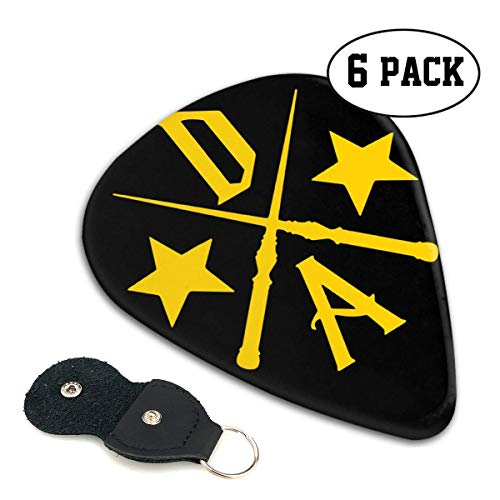 Dumbledore's Army Cross Celluloid Guitar Picks Premium Picks 6 Pack for Guitar,Mandolin,and Bass 0.46mm, 0.71mm, 0.96mm Optional with PU Leather Pick Holder 0.46mm (Army Cross)