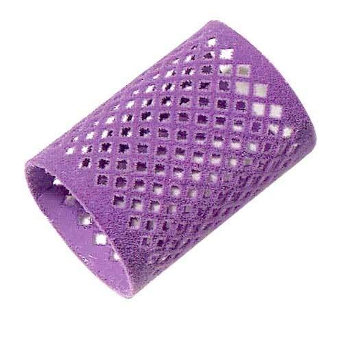 COIPRO Metallwickler, 12 Stück 45 mm lang beflockt, violett - durchmesser 45 mm violett, 12 Stück