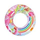 Anello di nuotata for bambini colorati - Anello di nuoto - Salvagente al mare - Giocattolo for piscina estiva - Giocattoli da spiaggia d'acqua for bambini e adulti (Dimensioni: 90), 70 Più sicuro da u