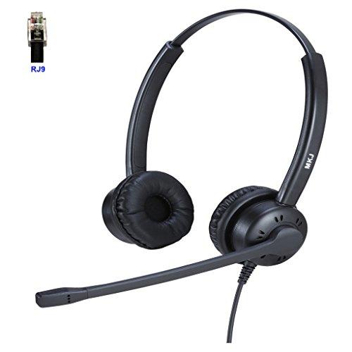 Headset mit Mikrofon für Cisco IP Phone 7841, 7942G, 8841, 7931G, 7940, 7941G, 7945G, 7960, 7961G, 7962G, 7965G, 7970, 7971, 7971G, 7975, 7975G etc. (Ip Cisco Phone 7962)