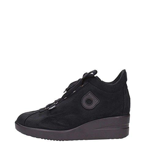 Polacchino Zeppa Sneaker Cerniera interna Agile By Rucoline New Suede Nero 226 A autunno inverno 2015 - 2016 made in italy AI 15/16 (37)