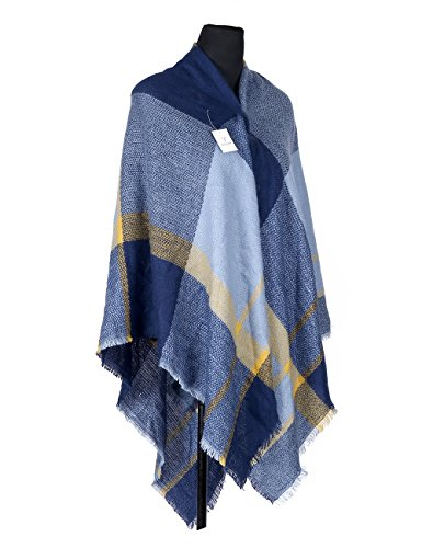 Tartan Plaid Oversize morbida sciarpa calda coperta scialle Grandi Scozzese Sciarpa Donna Inverno