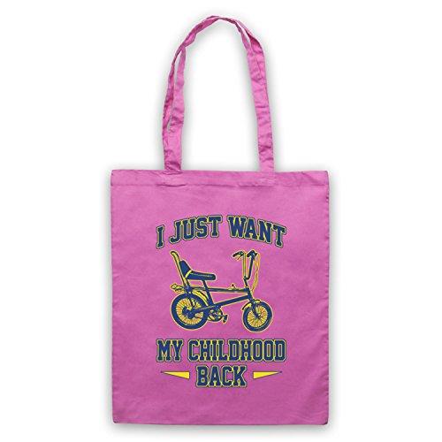 Chopper Bike I Just Want My Childhood Back Umhangetaschen Rosa