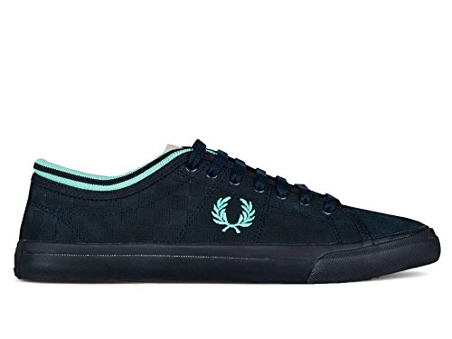 Scarpe uomo Fred Perry Kendrick Tipped Cuff nabuk Navy, (*), 43