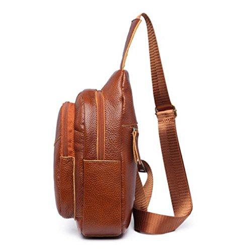 LAIDAYE Schulter Diagonal Art Und Weise Beiläufiger Rucksack Business Freizeit Mehrzweck- Reiserucksack Business-Paket Schultertasche Brusttasche Brown