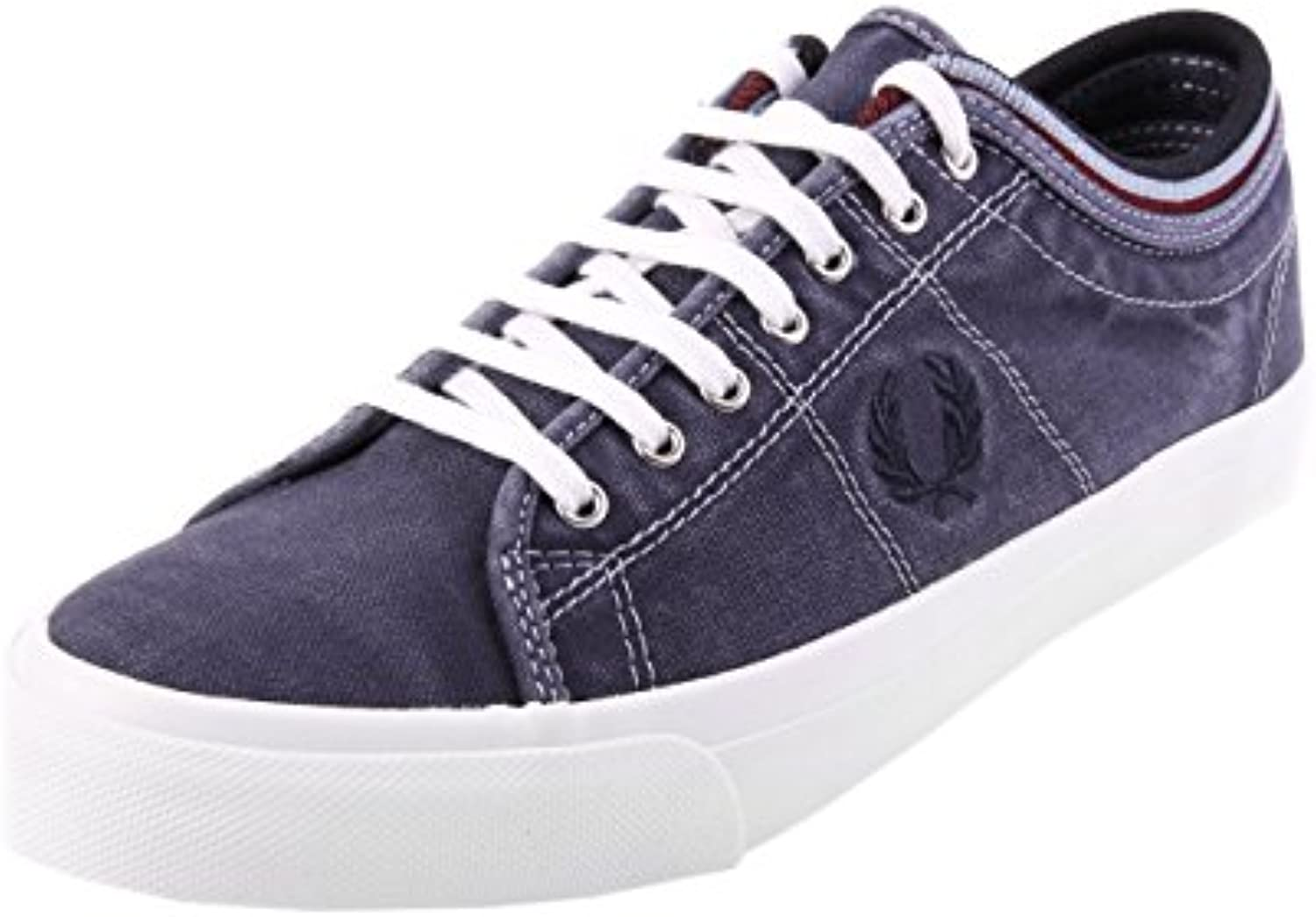 Fred Perry Kendrick Tipped Cuff Overdyed Canvas Navy B1145608  Turnschuhe