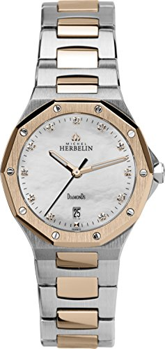 Michel Herbelin Odyssee Women's Watch silver/rose gold 14231/BTR89