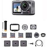 """DJI Osmo Action Prime Combo - Digitale Camera met Accessoirekit en DJI Care Refresh, 12 MP 1/2.3"""" CMOS, 2 Schermen, 11m Waterdicht, Ingebouwde Stabilisator, 4K HDR Video en Foto - Zwart"""