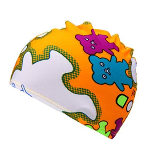 Sanahy wasserdichte Kinder Badekappe Atmungsaktive Ohr Wrap Schutz Kinder Schwimmen Hut mit PU Beschichtung Cartoon-Muster -