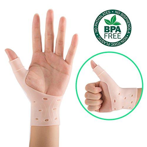 2atmungsaktiv Gel Handgelenk und Daumen Support Hosenträger für Rechts & Links Hand | bewährte, Handgelenk und Daumen Leid inkl. Arthritis, Rheuma, Karpaltunnelsyndrom | Weich, bequem und Licht Gewicht