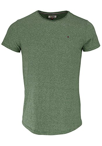 Tommy Jeans Herren T-Shirt Tjm Basic CN Knit S/S 25, Grün (Thyme 383), Medium (Denim Shirt S/s)