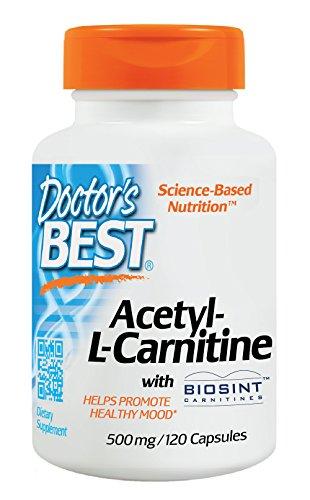 Doctors Best Acetyl L-Carnitine HCI featuring Sigma Tau Carnitine (588mg, 120 Capsules)