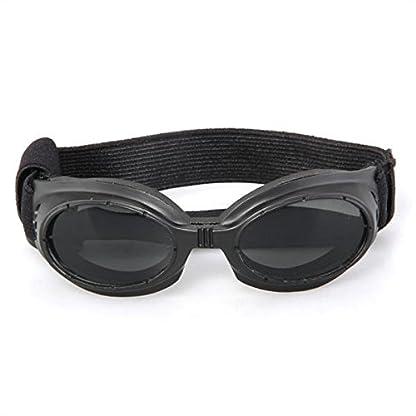 FACILLA® Black Framed Pet Puppy Dog UV Protection Doggles Goggles Sunglasses Eyewear 2