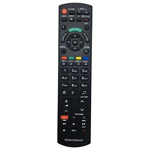 ALLIMITY Fernbedienung N2QAYB000487 Ersetzen für Panasonic LED LCD Viera Plasma TV N2QAYB000239 N2QAYB000354 TX-L22X20E TX-L22X20L TX-L24C3B TX-L24C3E TX-L24C3ES TX-L24E3B TX-L24E3E TX-L26C20B Viera Plasma-tv