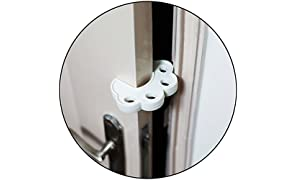 Safe-O-Kid Fit All Sleek Design Strong Silicone Door Stopper