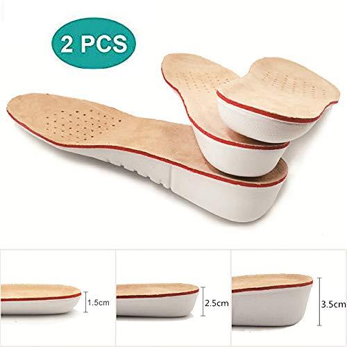 HHY-X 2 Paare Leder Einlegesohlen Höhe Erhöhen Einlegesohle Schweinsleder Schuh pad einsätze fußpflege pad Schuh zubehör,3.5cm,L