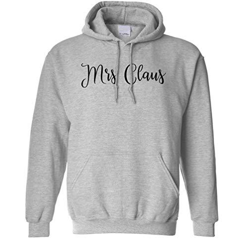 Weihnachten Kapuzenpullover Mrs Claus Slogan Grey X-Small ()