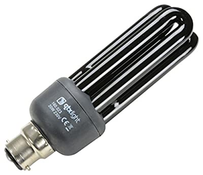 QTX 160.020 Black Light UV Energy Saving Lamp - low-cost UK light shop.