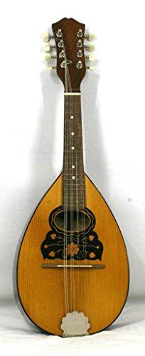 Musikalia Mandolino piatto tipo portoghese, di liuteria, serigrafato