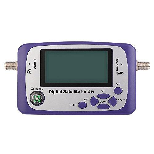 Digital Anzeige Satelliten Finder Meter Satfinder TV Signal Empfänger (Farbe: Lila) (Ku-band Dish)