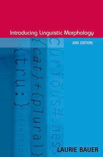 Introducing Linguistic Morphology por Laurie Bauer