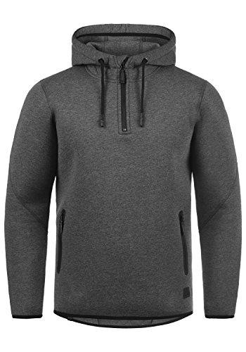 BLEND Dooby Herren Kapuzenpullover Hoodie Sweatshirt aus hochwertiger Baumwollmischung Meliert Charcoal (70818)
