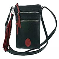Rieker H1000, handtas voor dames, zwart (zwart/rosso), 20 x 17 x 2 cm