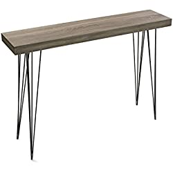 Mesa Consola madera color roble Dallas, 110x80x25, Consola/Cómoda