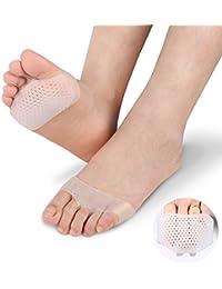 SOFIT 1 Paar Gel Vorfußpolster Fußpads, Fußballen Metatarsal Support Mittelfußknochen, Toe Separator Kissen Metatarsal Pads, Erweiterbarkeit lindert Füße Schmerzlinderung für Frauen und Männer