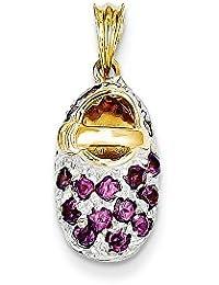 14ct rodio rosa de turmalina bebé para pulsera zapatos - JewelryWeb shQmY5p4s