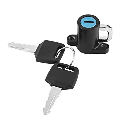 Universale moto casco Lock kit, casco gancio con 2set di chiavi per scooter bici