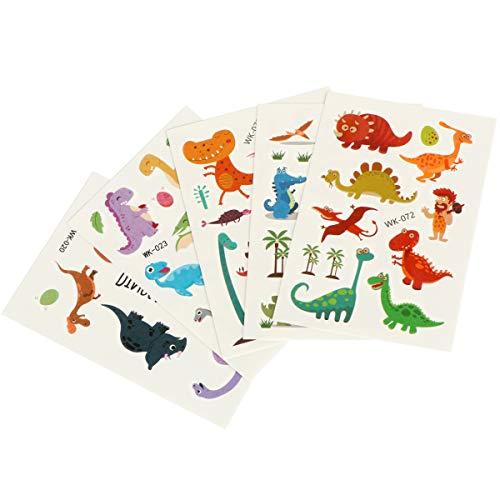 �r Kinder & Kleinkinder Dinosaurier Theme Aufkleber, Dinosaurier Scrapbooking Sticker einschließlich Primitiv, Tyrannosaurus Rex, Triceratops, Stegosaurus, Dinosaurier-Eier usw ()