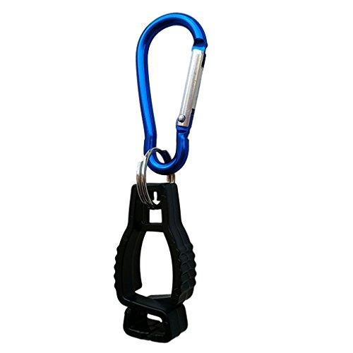 -Halter Handschuhclip für Taucherhandschuhe, Arbeitshandschuhe, Golfhandschuhe, Fahrradhandschuhe - Schwarz ()