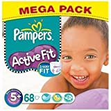 Pampers Active Fit Taille 5 + (13–27kg) Mega Pack x 68par paquet