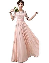 Elecenty Abendkleid Sommerkleid Damen,Prinzessin Kleid Reizvolle Rundhals  Frauen Freizeitkleidung… baffcb8f43