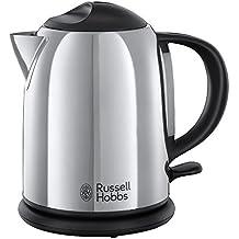 Russell Hobbs 20190-70 Chester - Hervidor compacto de acero inoxidable pulido, capacidad para 1 l, color plateado y negro