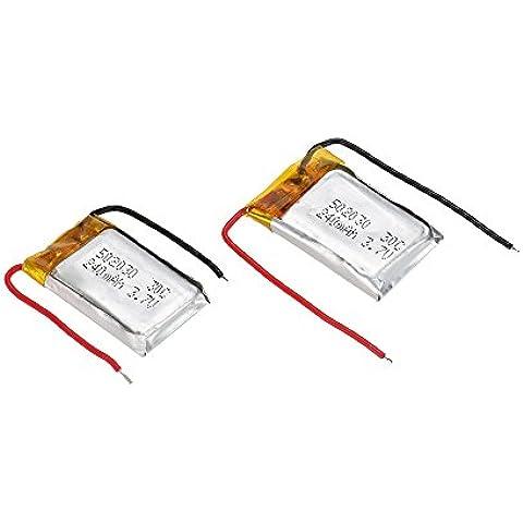 Goolsky 2pcs 3.7 v 240mAh 30C lipo batteria per elicottero