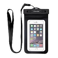 Funda para móvil impermeable ALOTOA caja del teléfono celular del bolso seco de la nieve, la suciedad y a prueba de polvo para el iPhone de 7/6s/ 6 (Negro)