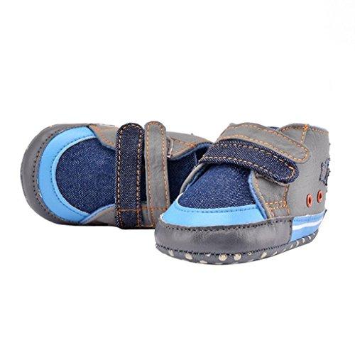 Hunpta Neue jungen Lauflernschuhe Nachahmung Cowboy Sterne Canvas Schuhe Baby Krippe Babyschuhe (13, Blau) Blau